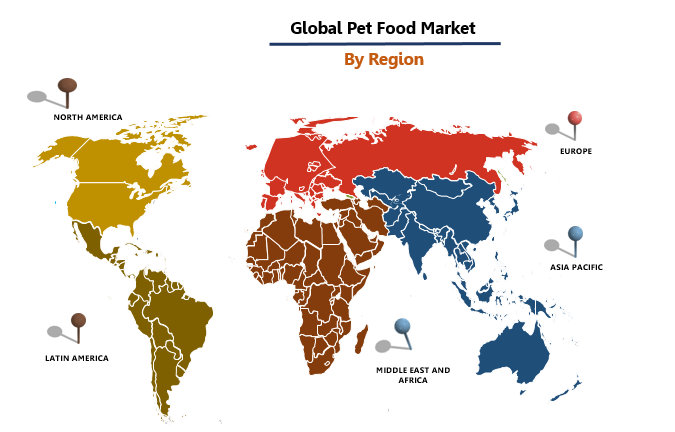 Pet Food Market By Region